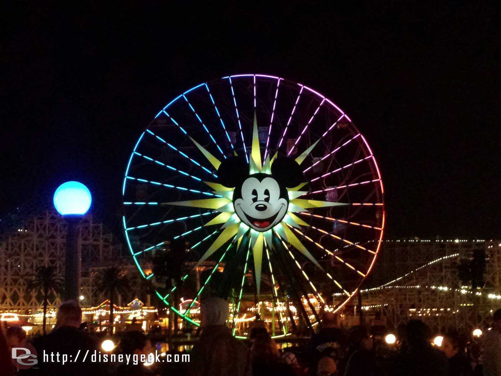 Mickey's Fun Wheel as I wait for World of Color: Winter Dreams