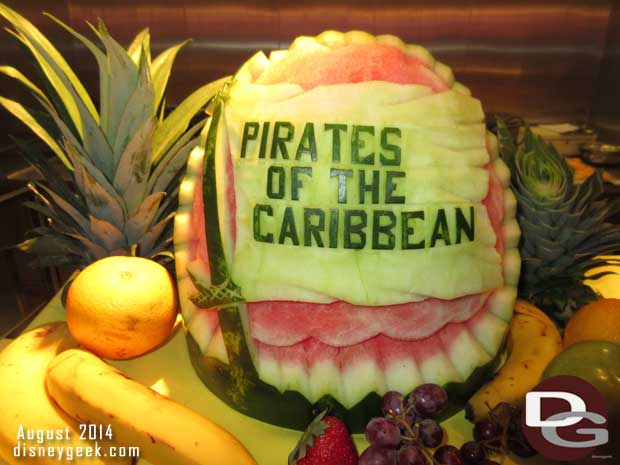 Disney Fantasy Cruise Ship – Pirates Night Fruit Carvings (Guest Photo Blog)