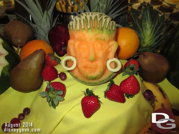 Disney Fantasy - Pirate Night Fruit Carving