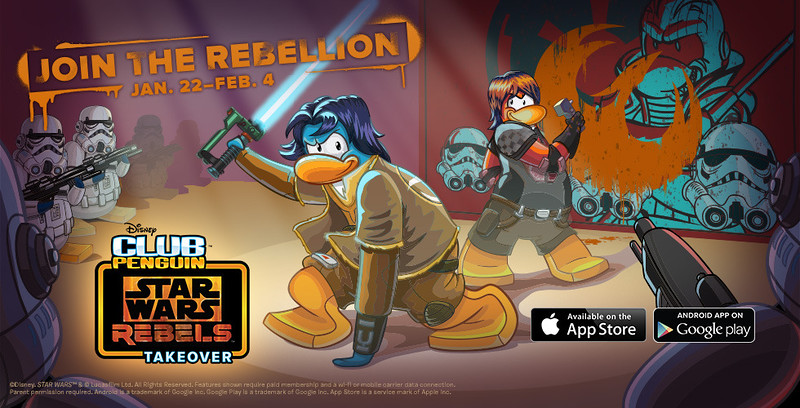 Club Penguin Players Join the Rebellion during the Star Wars Rebels Takeover (Disney News Release)
