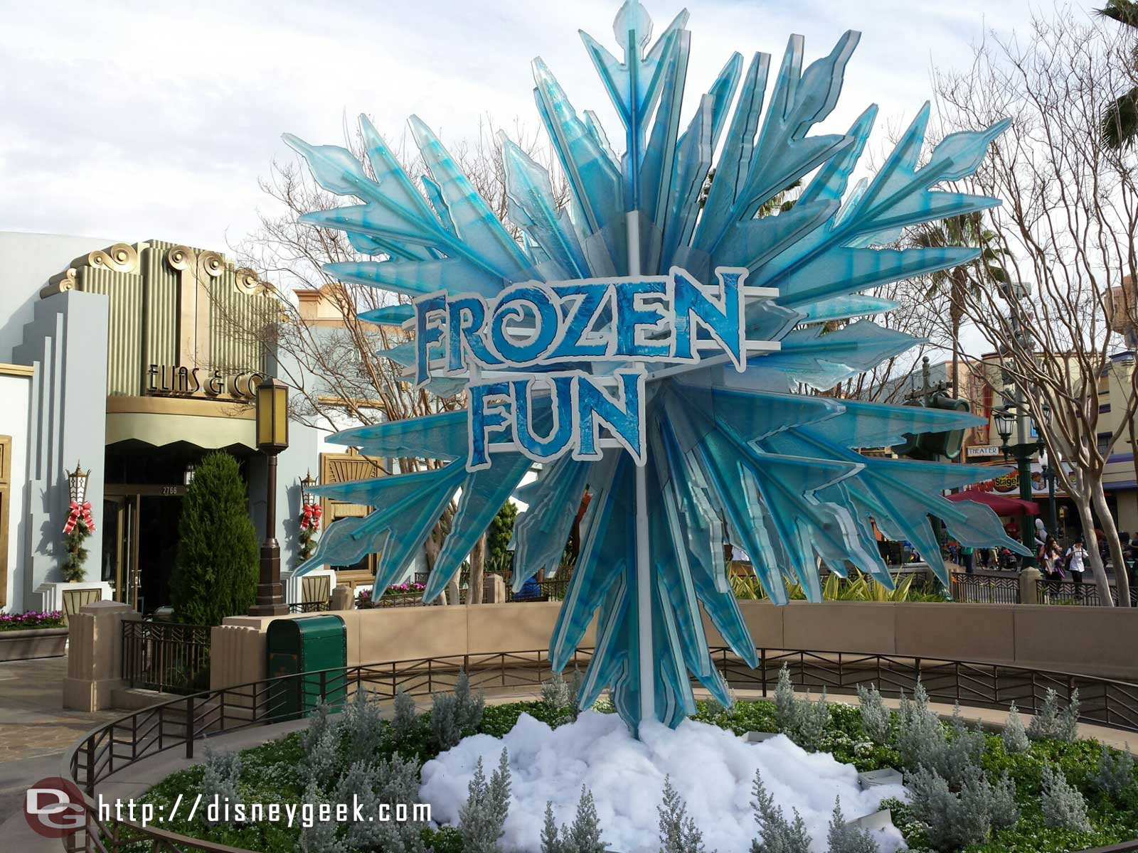 Christmas is gone and #FrozenFun has taken the tree's spot on #BuenaVistaStreet