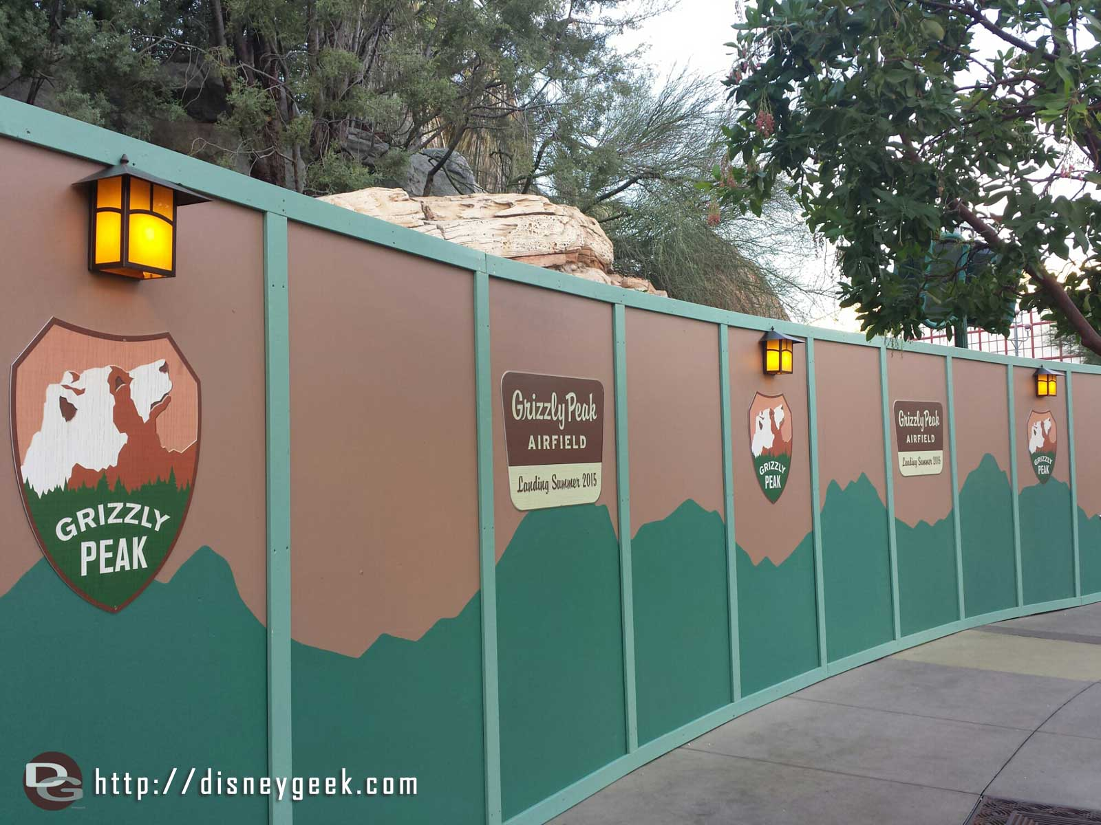 The wall at the #BuenaVistaStreet entrance to Condor Flats says Grizzly Peak Airfield coming Summer 2015