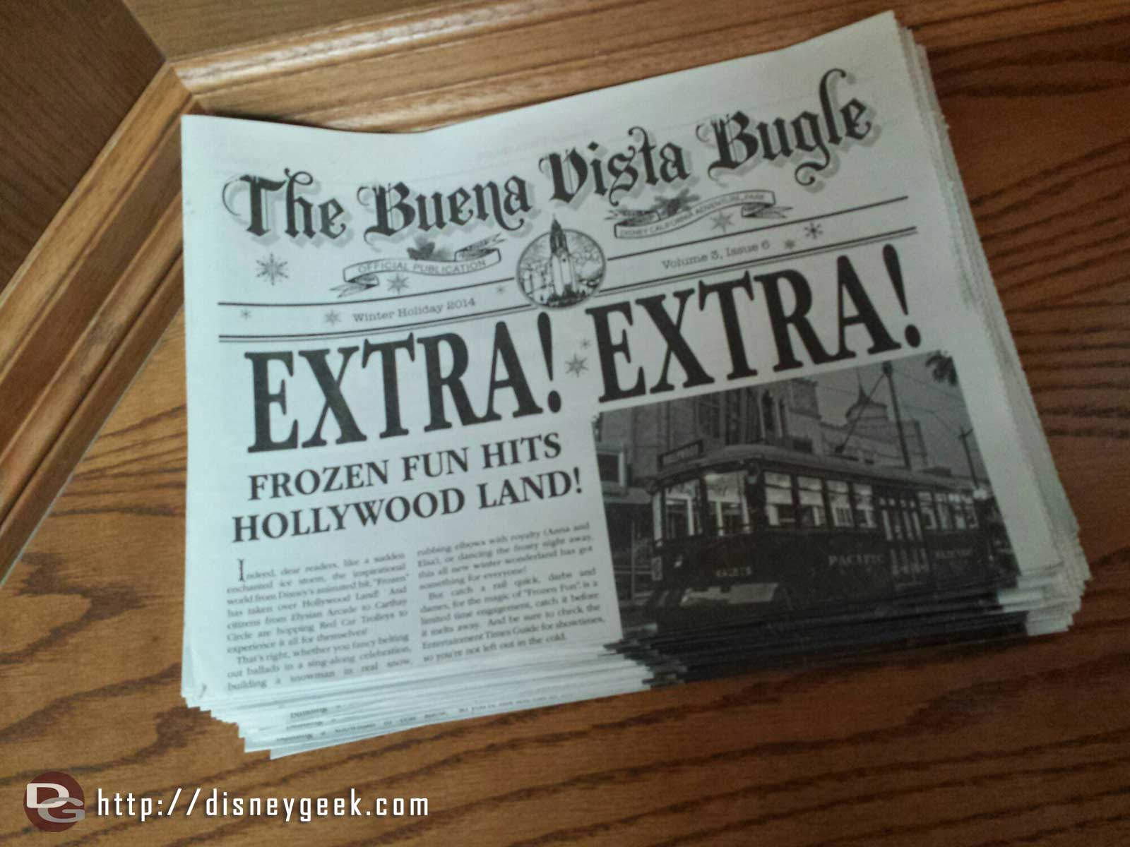 Winter edition of the Buena Vista Bugle features #FrozenFun