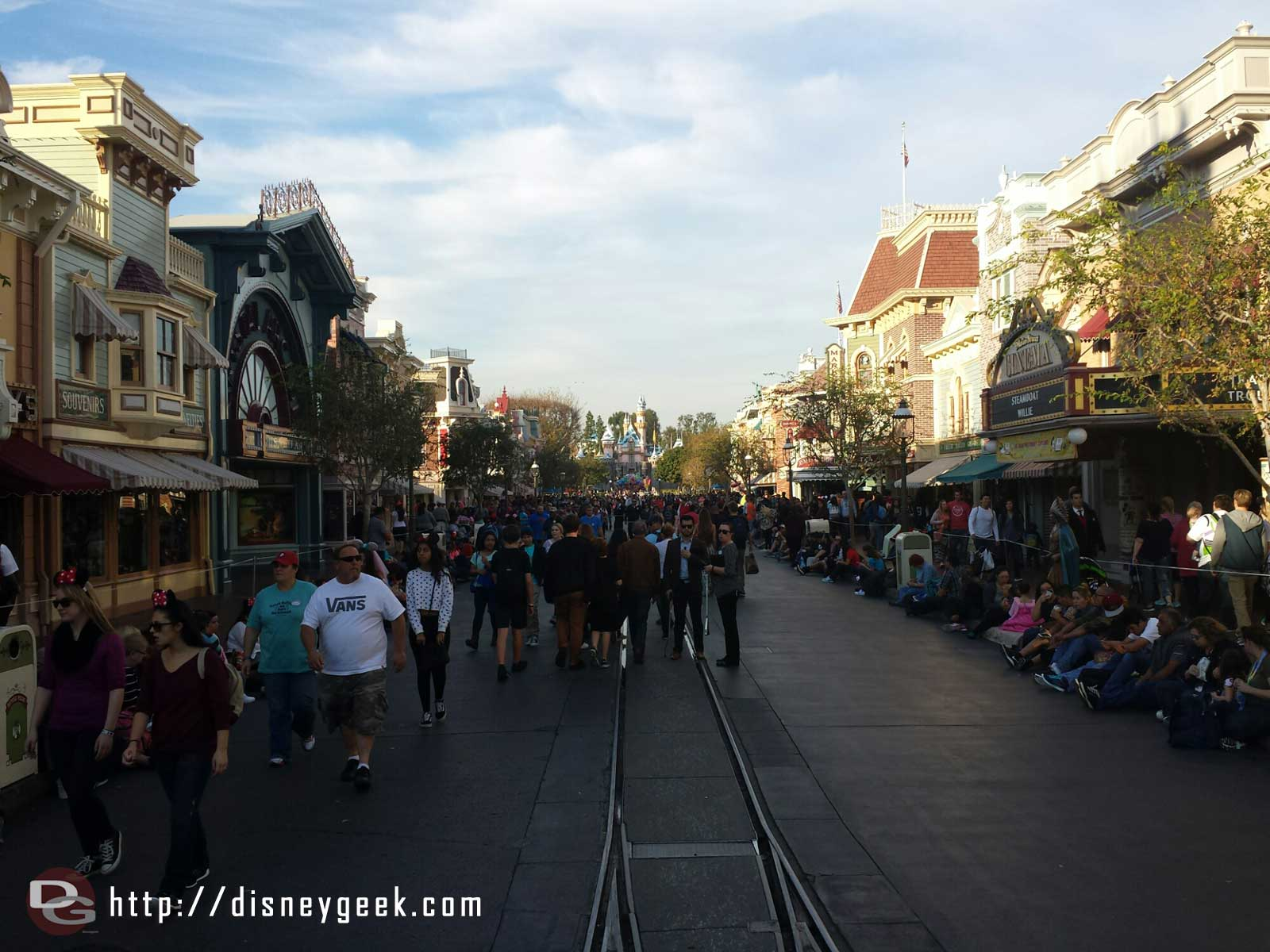 Most signs of Christmas are gone from Main Street USA #Disneyland