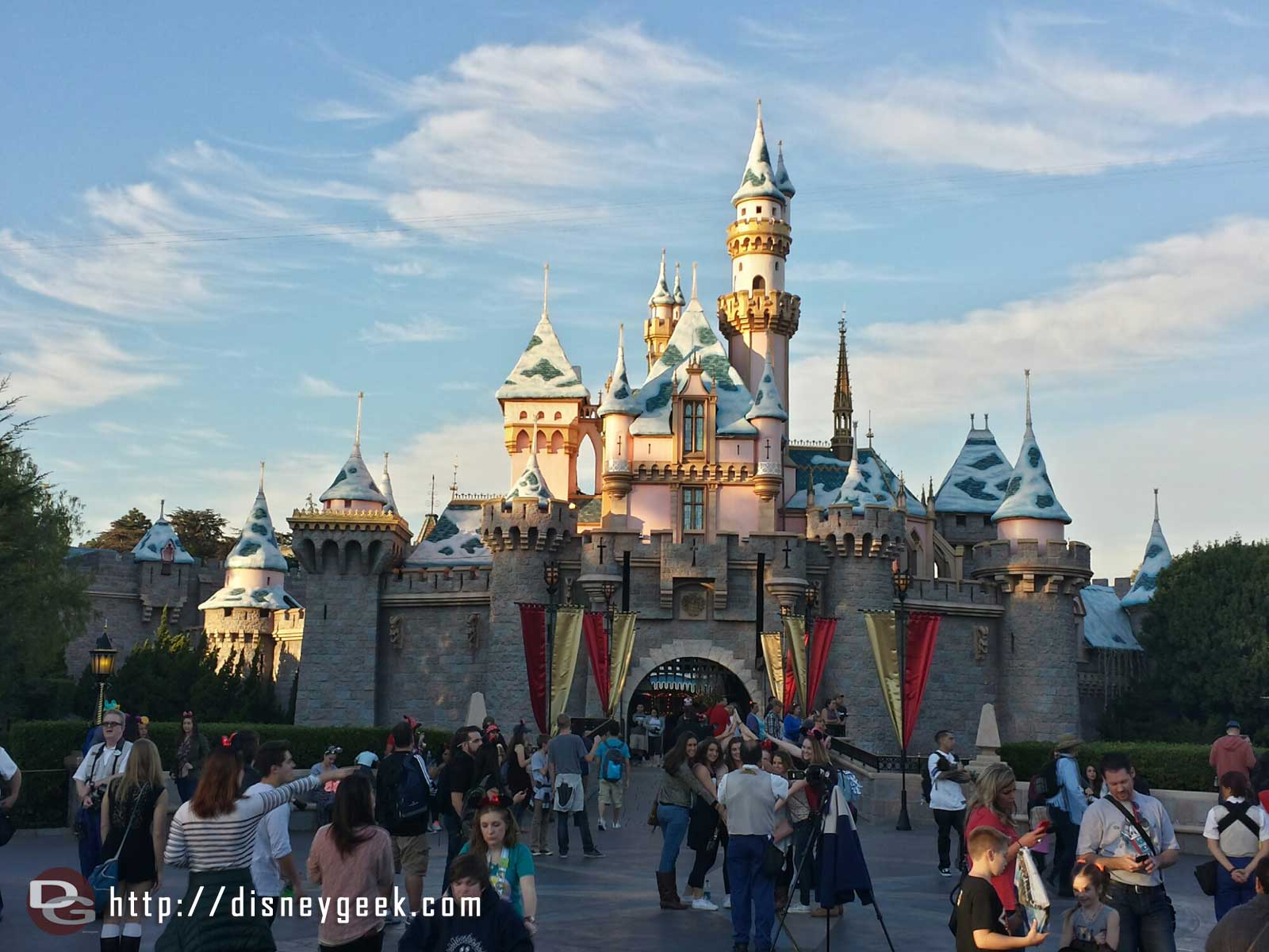 Sleeping Beauty Castle still has snow #Disneyland