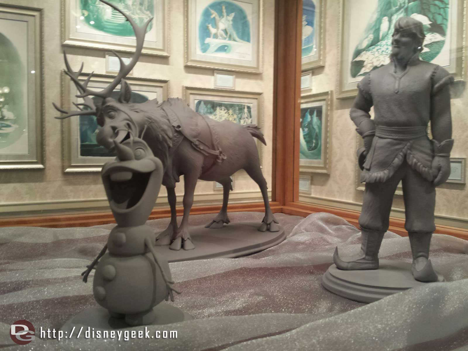 #Frozen character models in the Disney Gallery exhibit Snow Queens Art of Ice