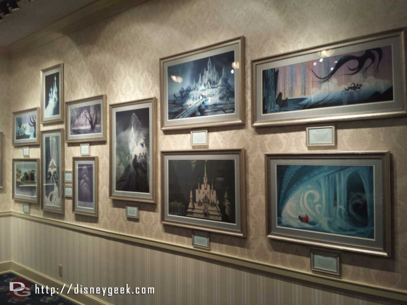 A quick preview of Snow Queens Art of Ice in the Disney Gallery, full pictures in the update Saturday