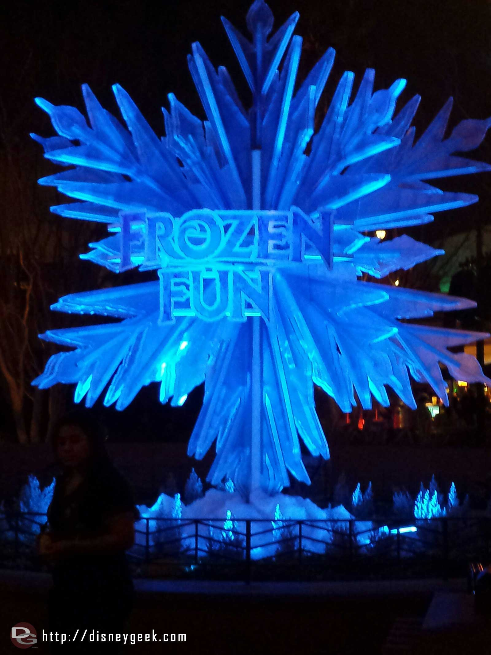 #FrozenFun photo op on #BuenaVistaStreet lit up