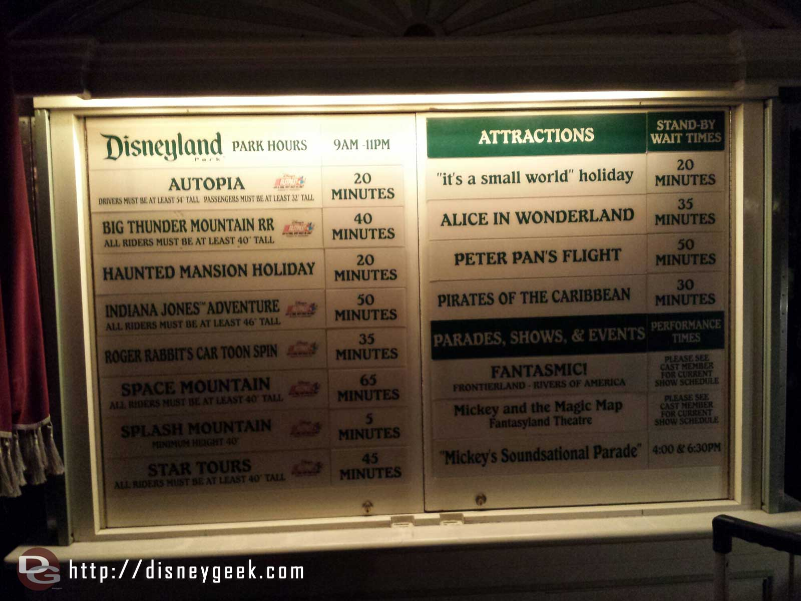 #Disneyland waits as of 8:34pm