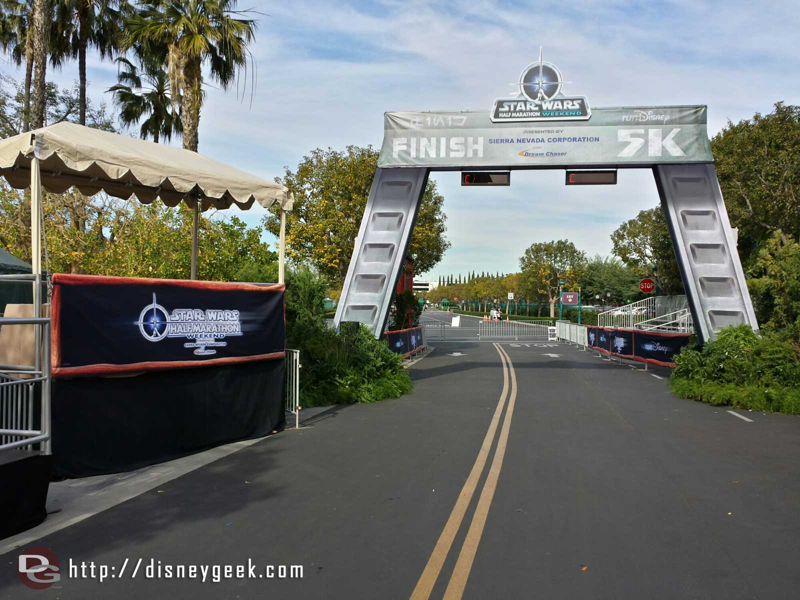 The finish line from the 5k for the Star Wars half marathon weekend #Disneyland