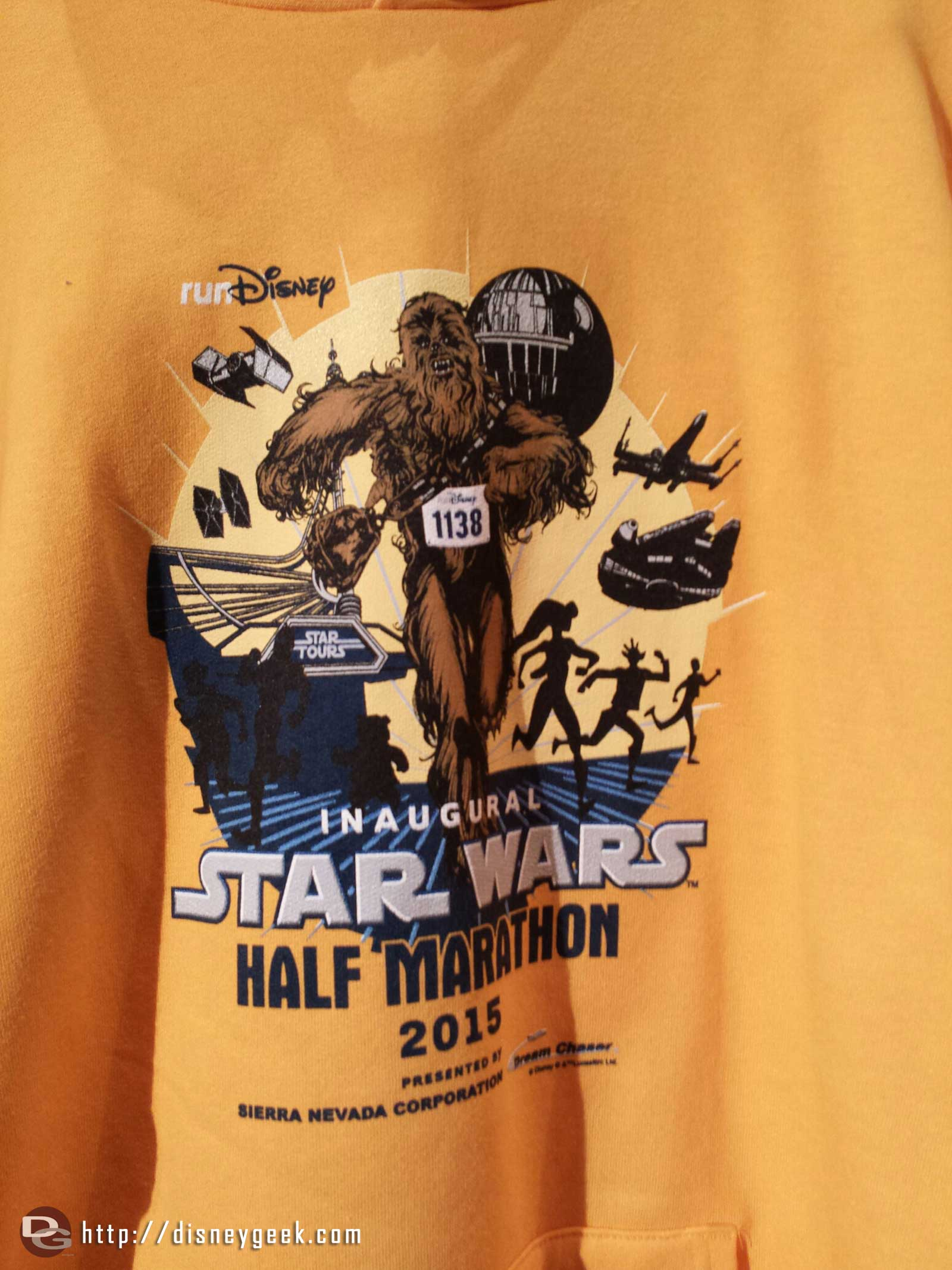 An inaugural Star Wars half marathon shirt #Disneyland