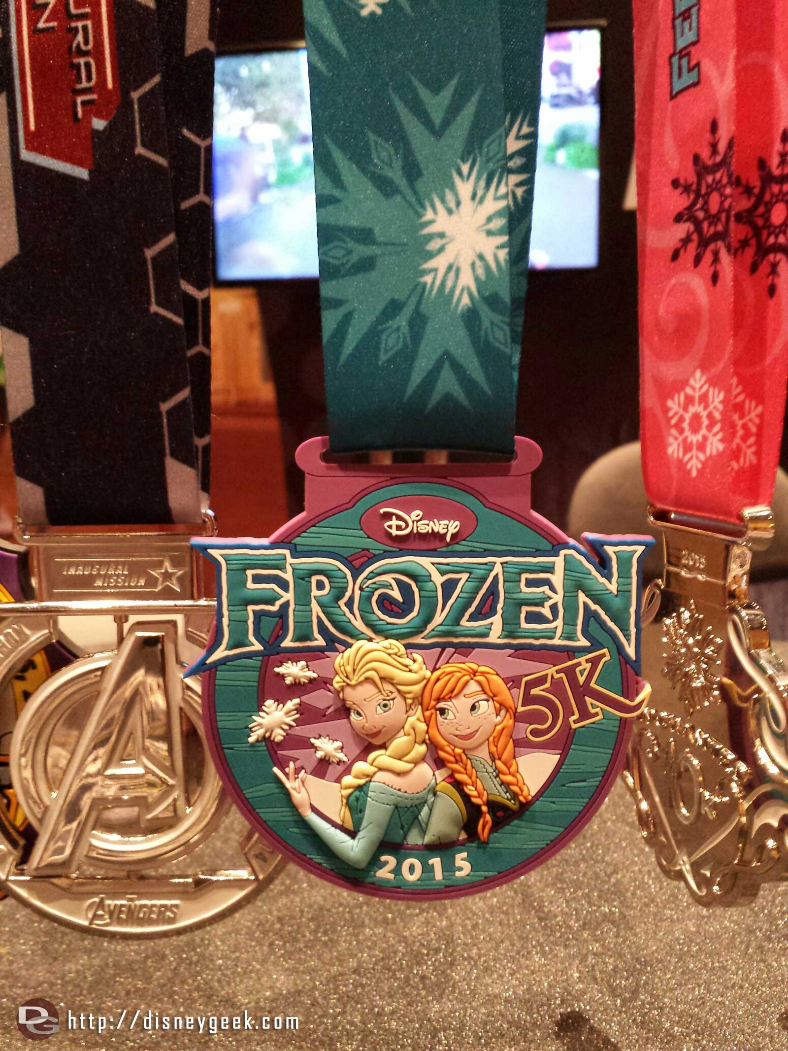 The medal for the upcoming #Frozen 5k