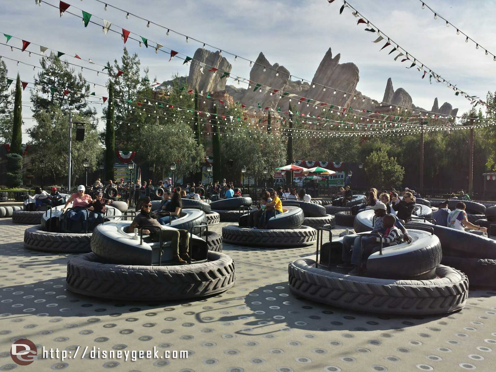 Only a few more weeks to enjoy the flying tires #CarsLand