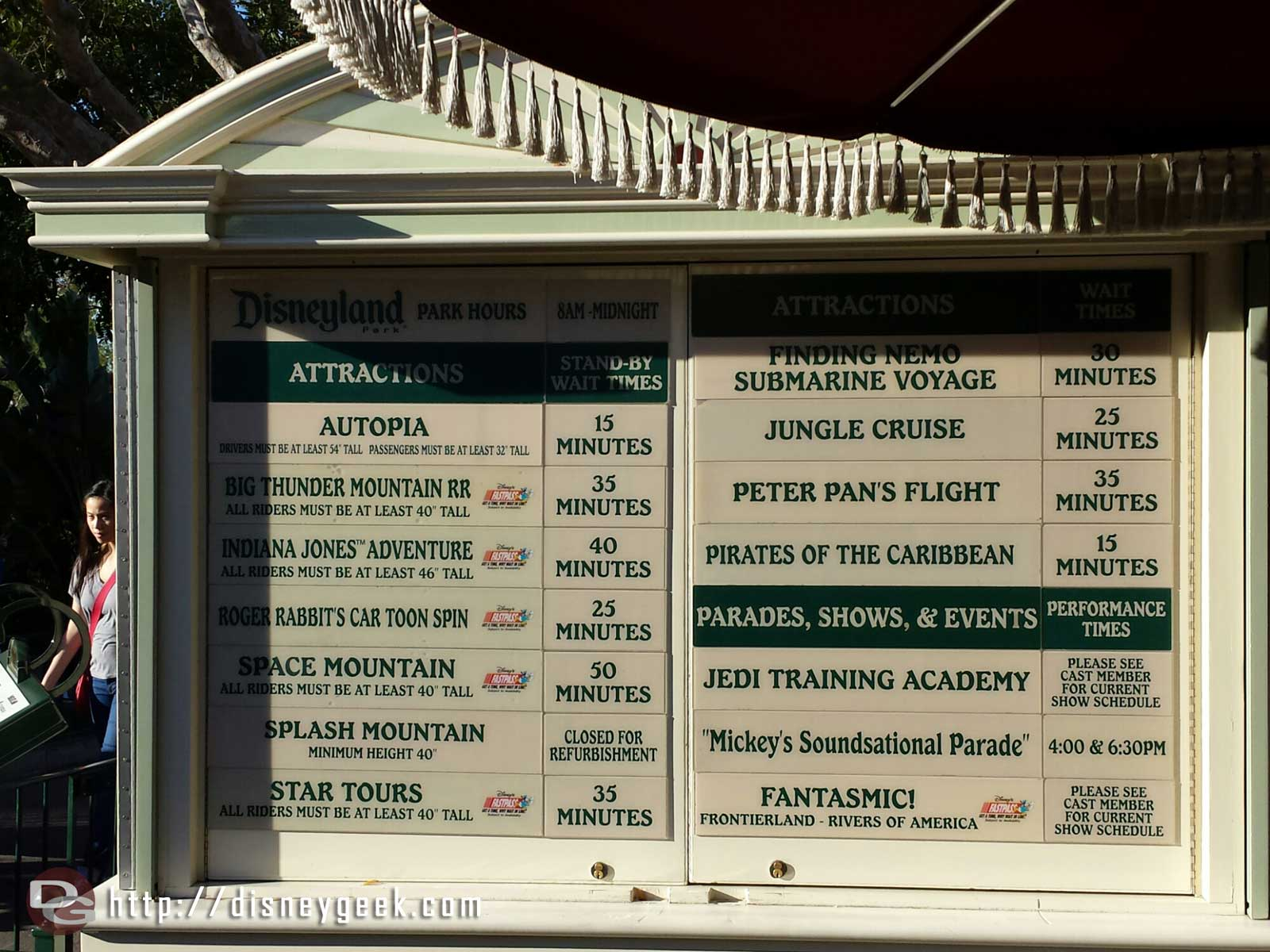 #Disneyland waits as of 3:10pm