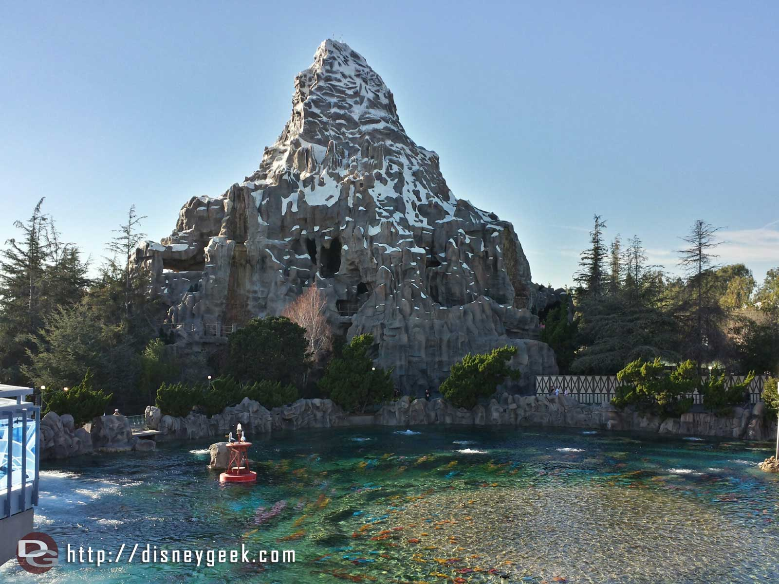 The Matterhorn from the Tomorrowland Monorail station