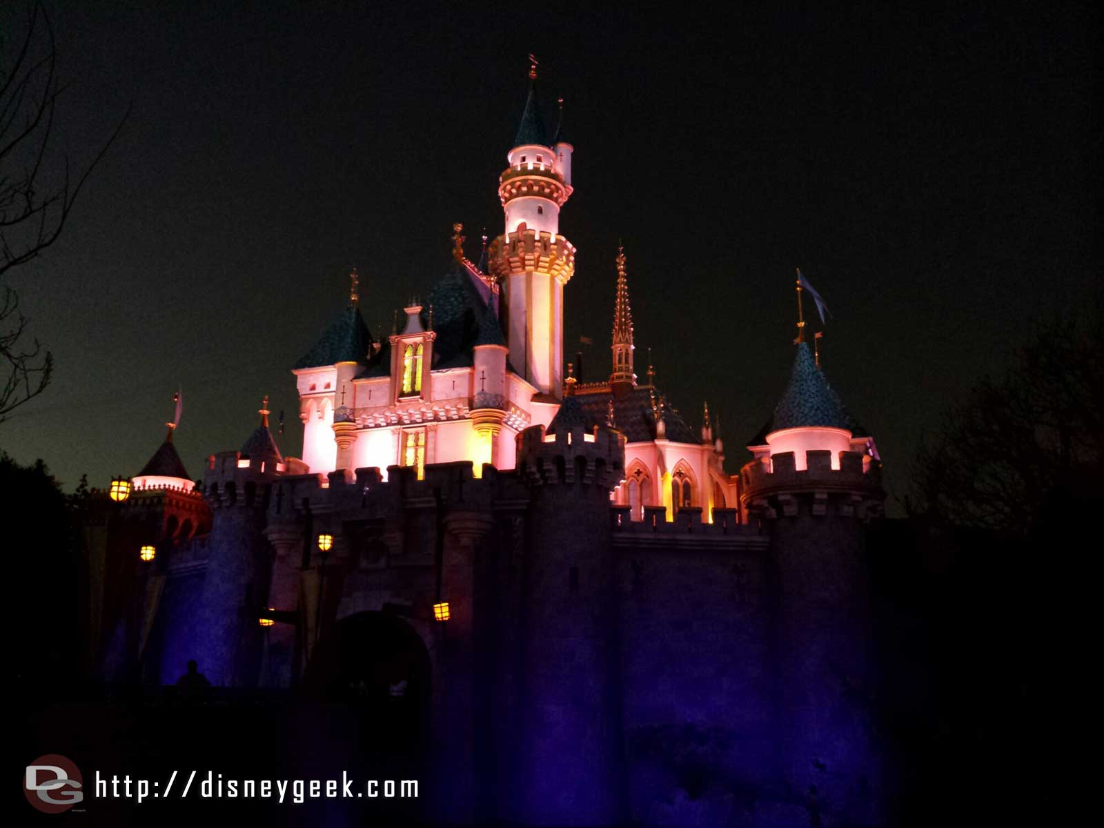 Sleeping Beauty Castle this evening #Disneyland