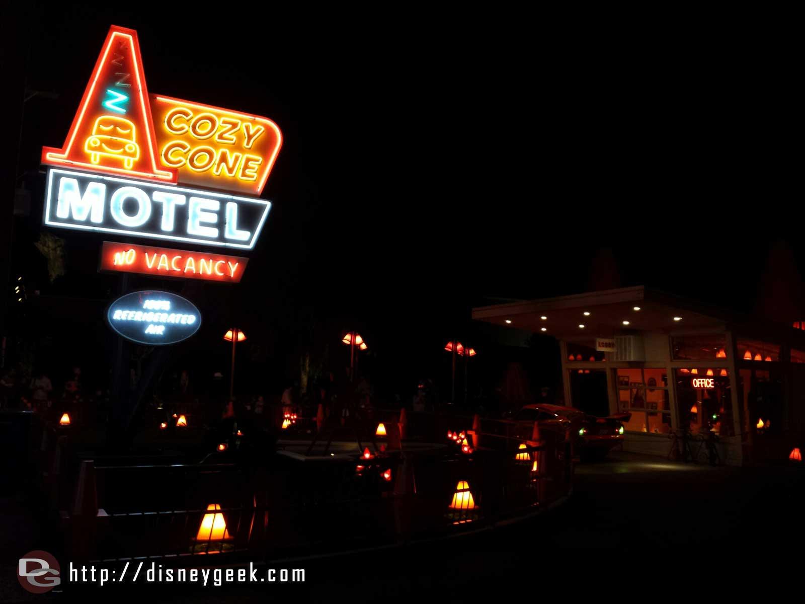 Cozy Cone Motel #CarsLand #Neon
