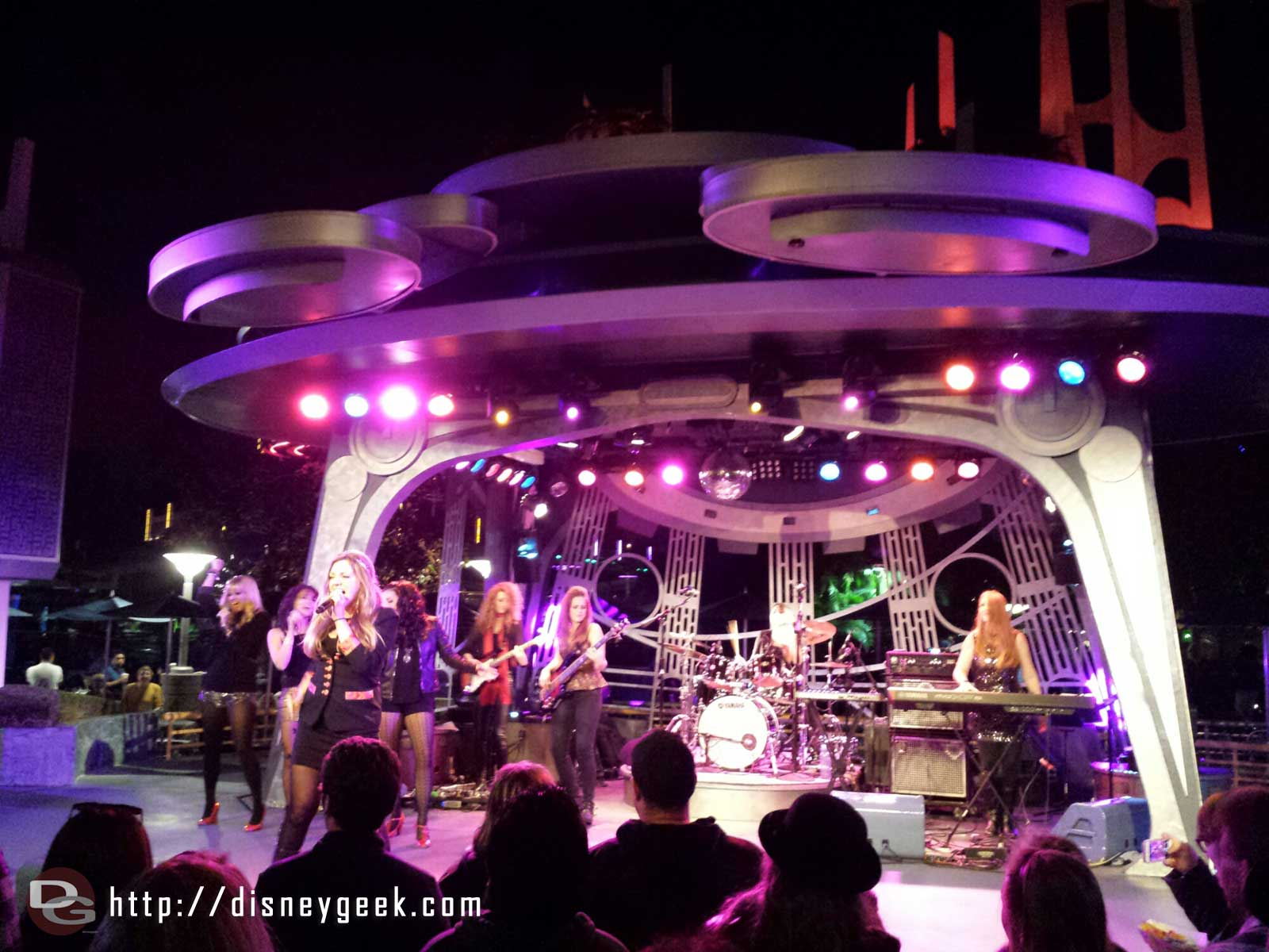 Tonight the Suffragettes are performing at the Tomorrowland Terrace #Disneyland