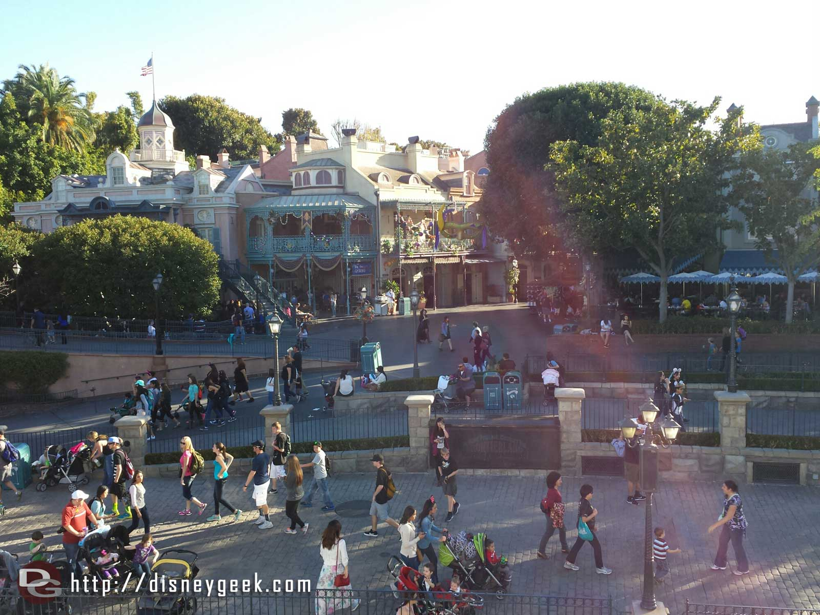Cruising by New Orleans Square on the Mark Twain #Disneyland