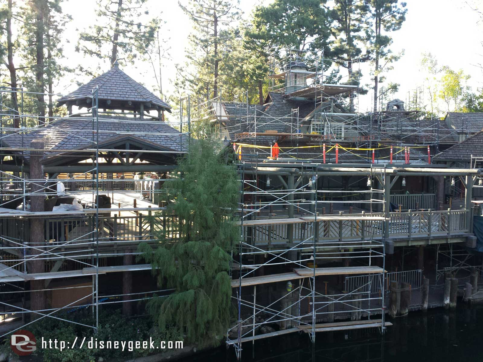 Scaffolding up at the Hungry Bear #Disneyland