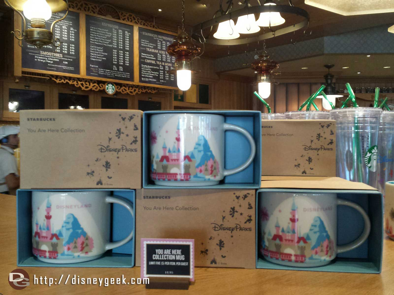 #Disneyland you are here collection mugs at the Market House