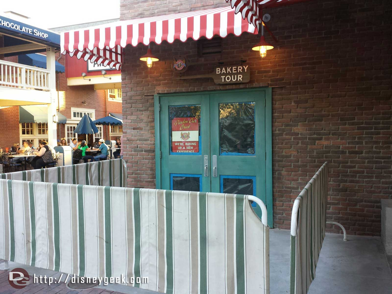 The Bakery tour walls are down but it is still being worked on
