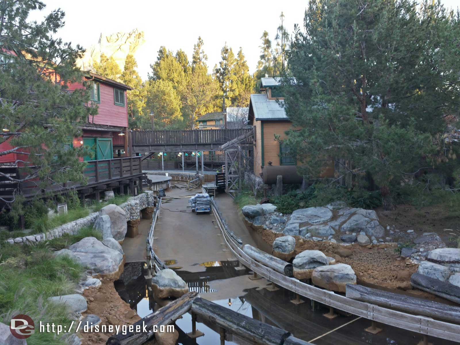 Grizzly River Run is closed for it's winter renovations