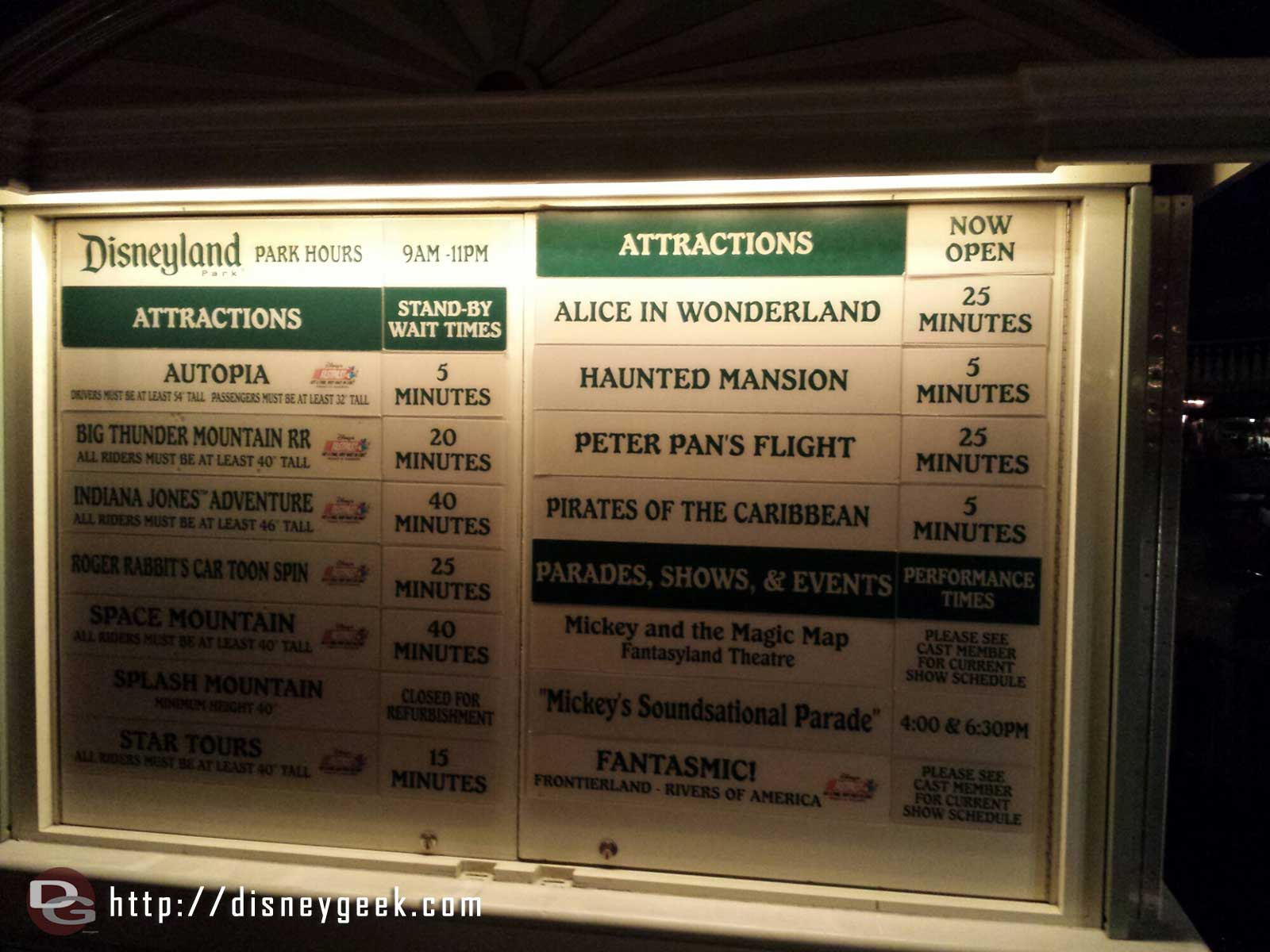 #Disneyland waits as of 6:04pm