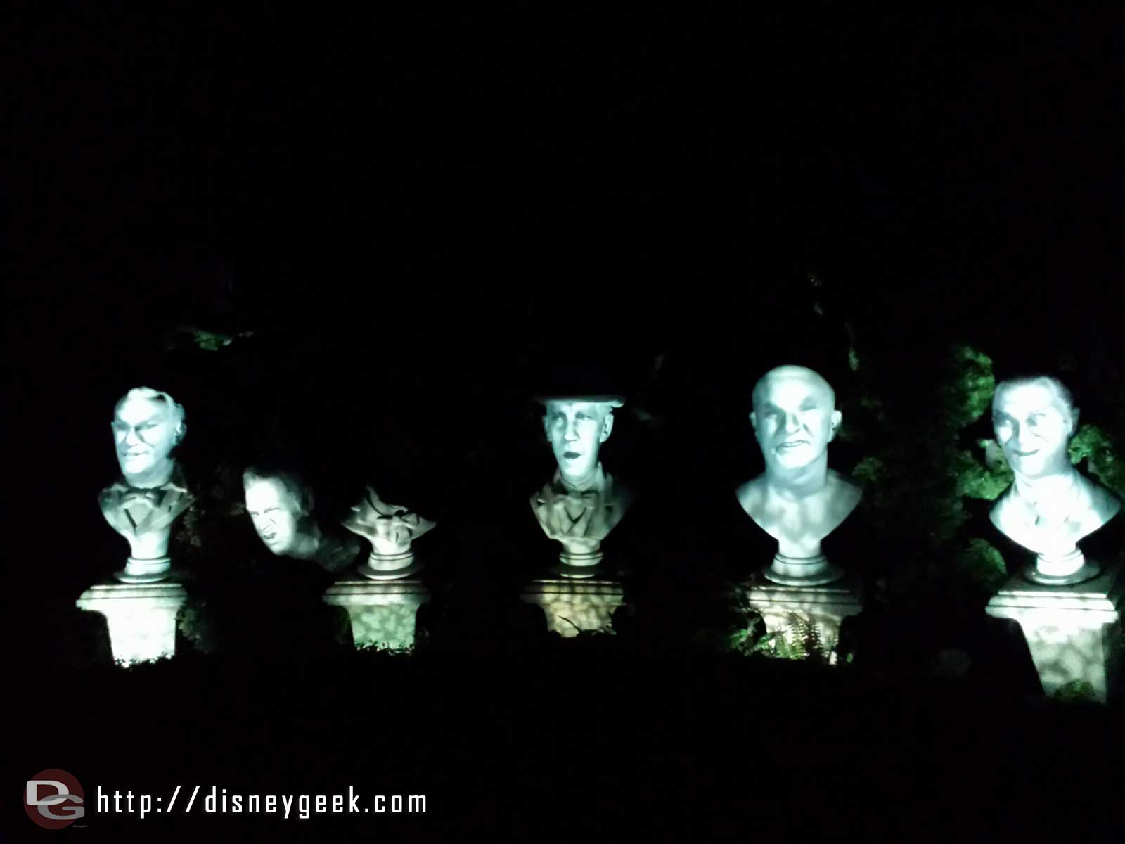 Haunted Mansion graveyard busts #Disneyland
