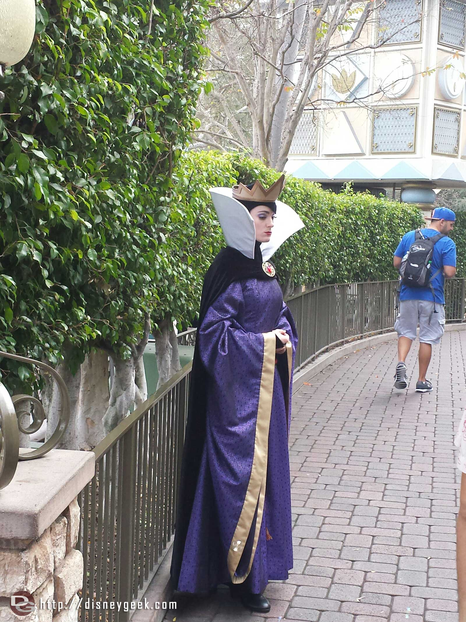 The Evil Queen is out greeting guests in the Small World Mall area #Disneyland