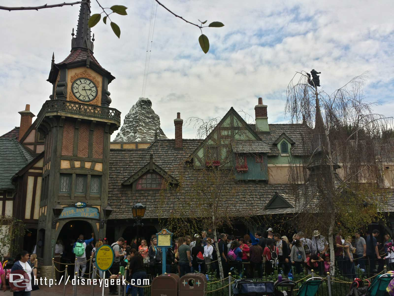 Peter Pan's Flight with the Matterhorn in the background #Disneyland
