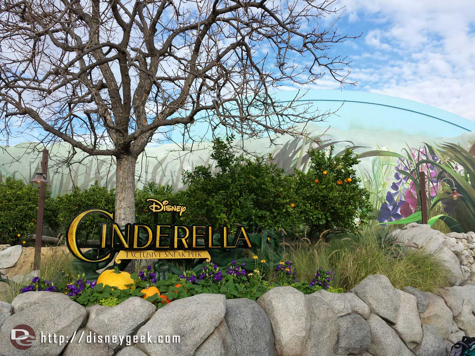 A preview for the upcoming Cinderella film has moved into the Bugs Theater