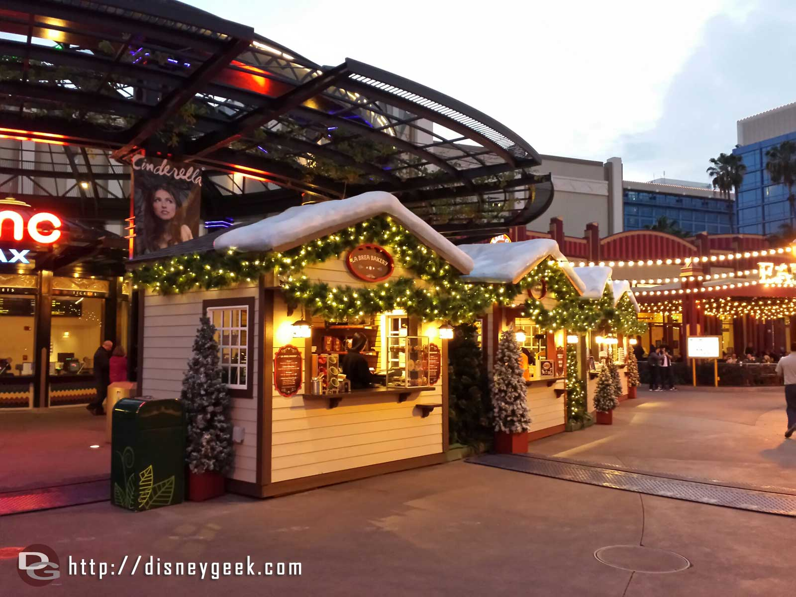 The winter village is open for a few more weeks still in Downtown Disney