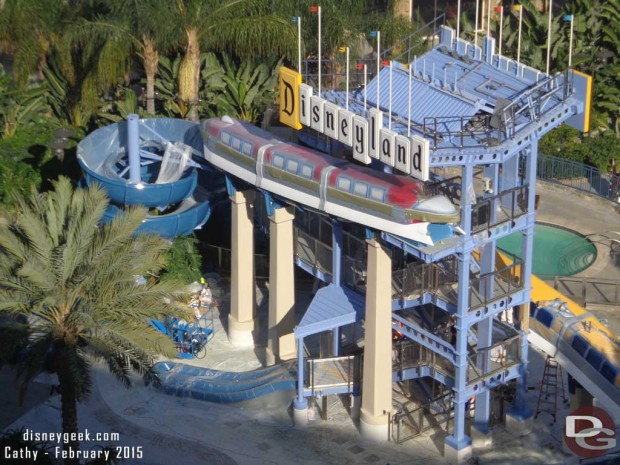 Disneyland Hotel Monorail Water Slides Undergoing some Refurbishment