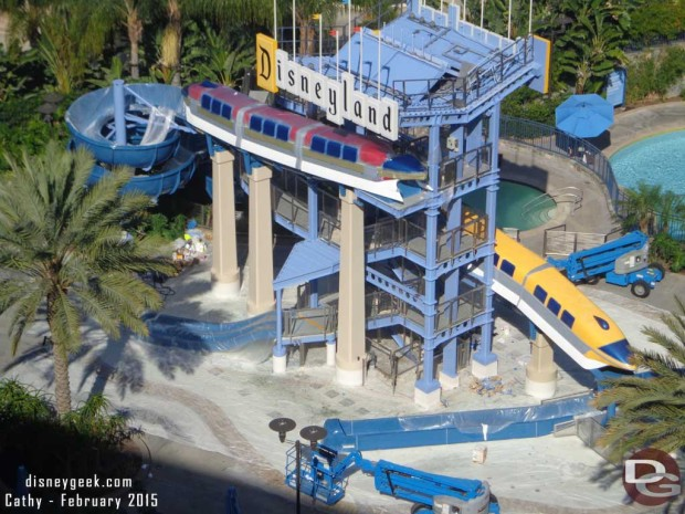 Disneyland Hotel Monorail Pool Refurbishment