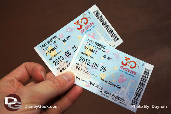 Purchased our tickets for DisneySea!