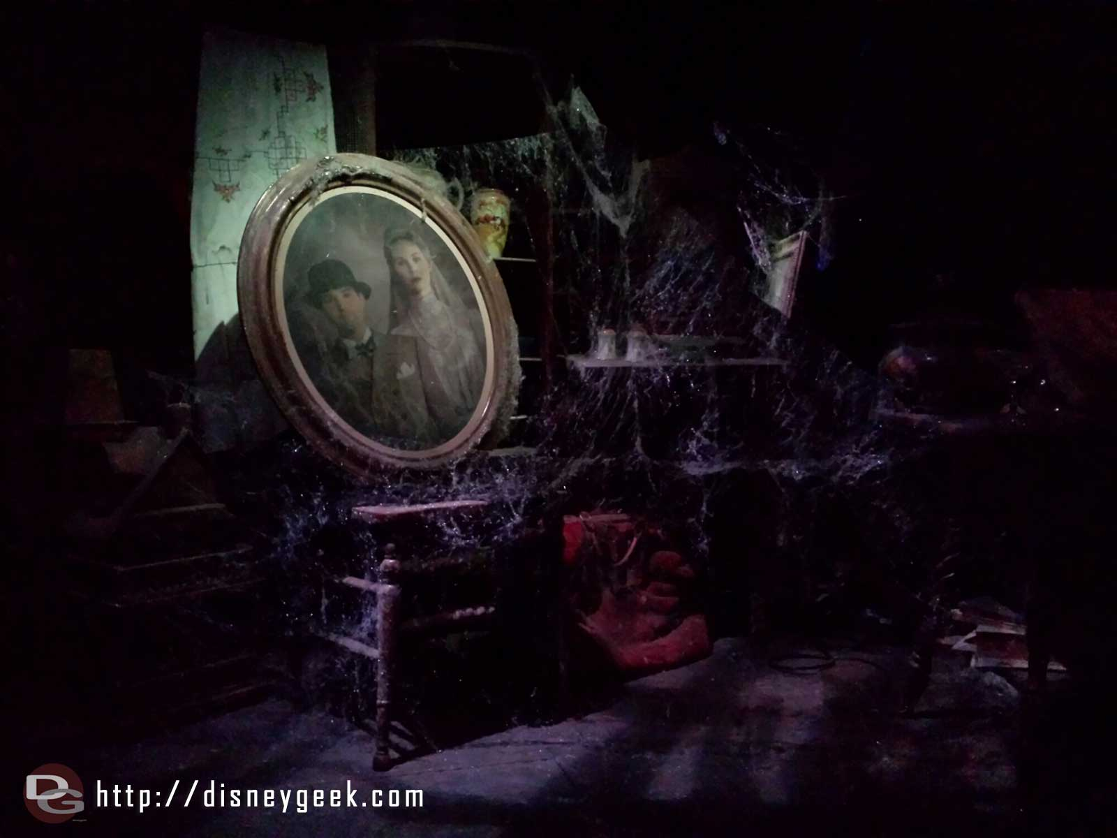 Haunted Mansion attic portrait 1/2 #Disneyland