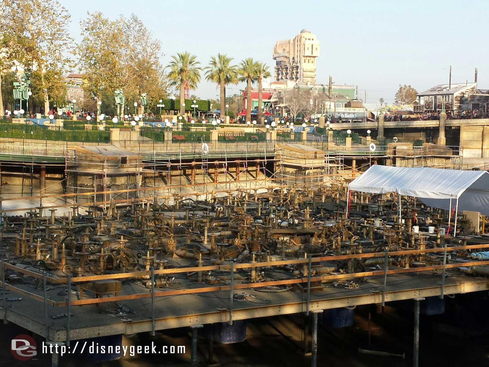 Paradise Bay – some scaffolding along the Paradise Park side for some refurbishment