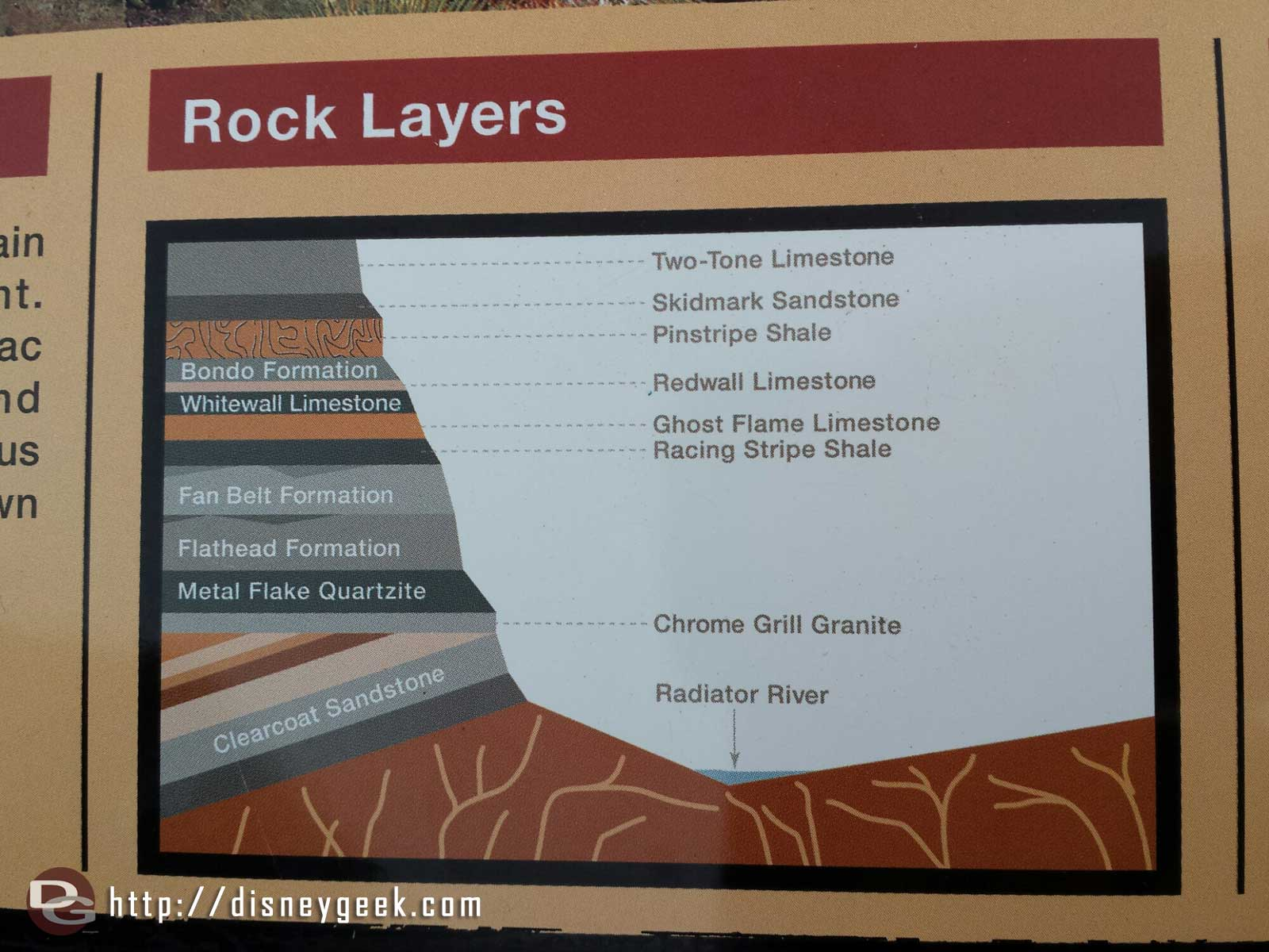How well do you know your Ornament Valley rock layers?  #CarsLand