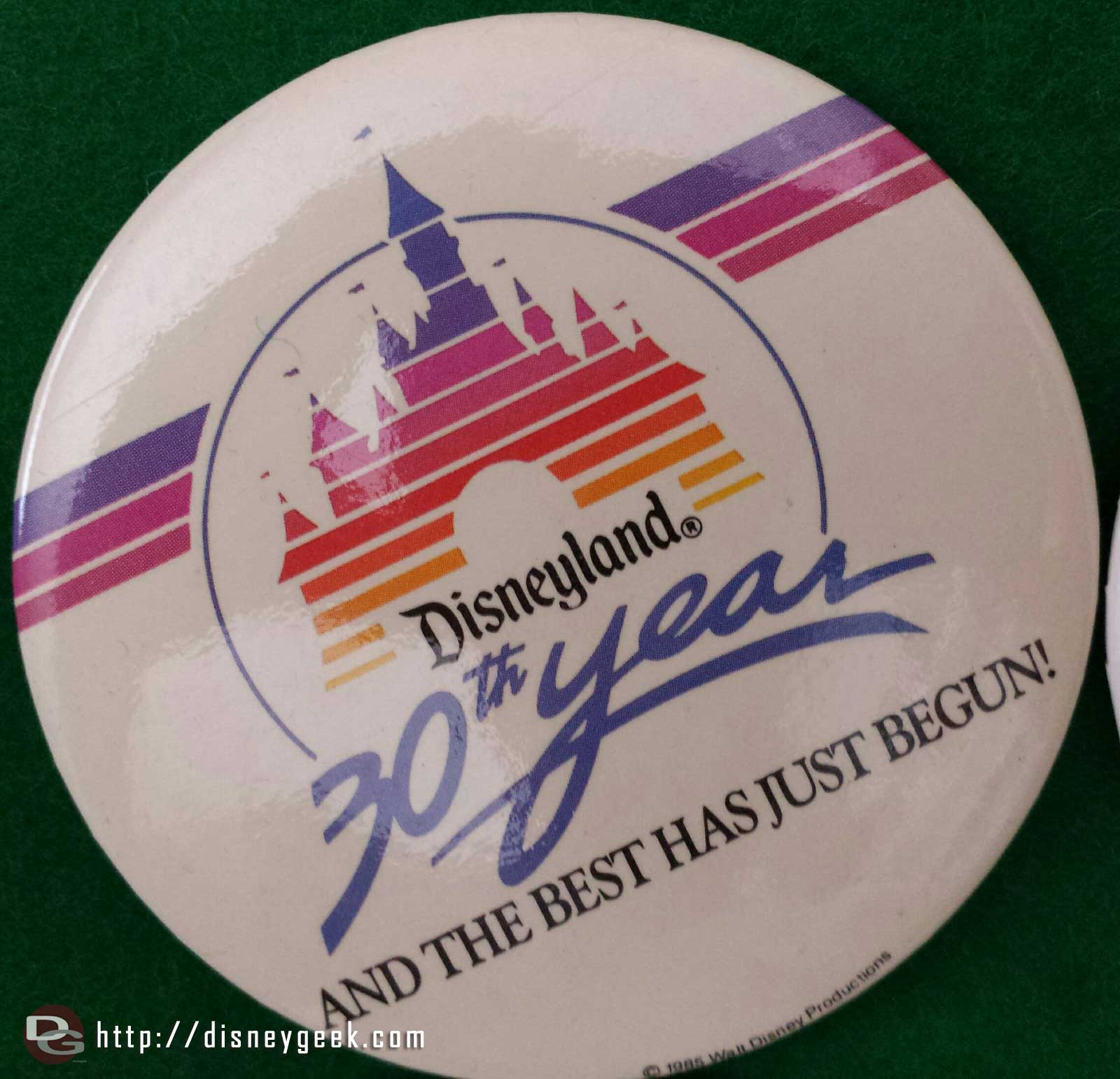 #Disneyland 30th Anniversary button