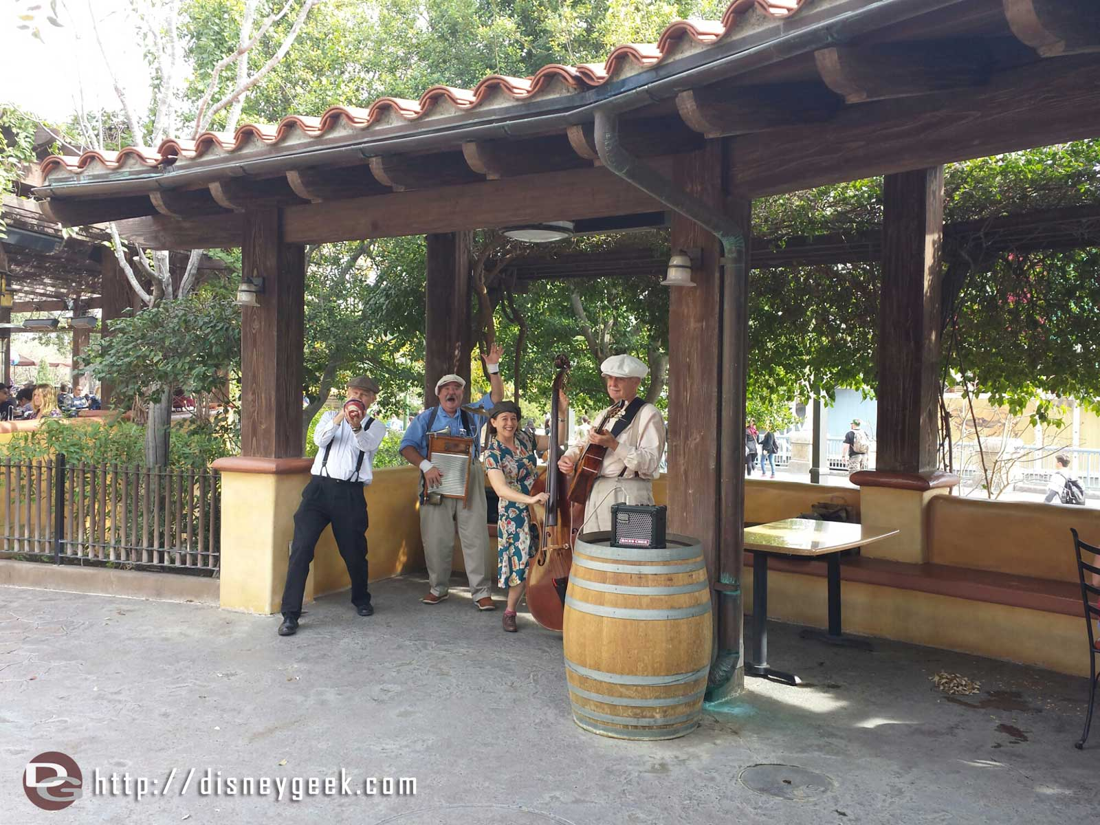 The Ellis Island Boys are at the Sonoma Terrace because of the Lunar New year in Paradise Gardens