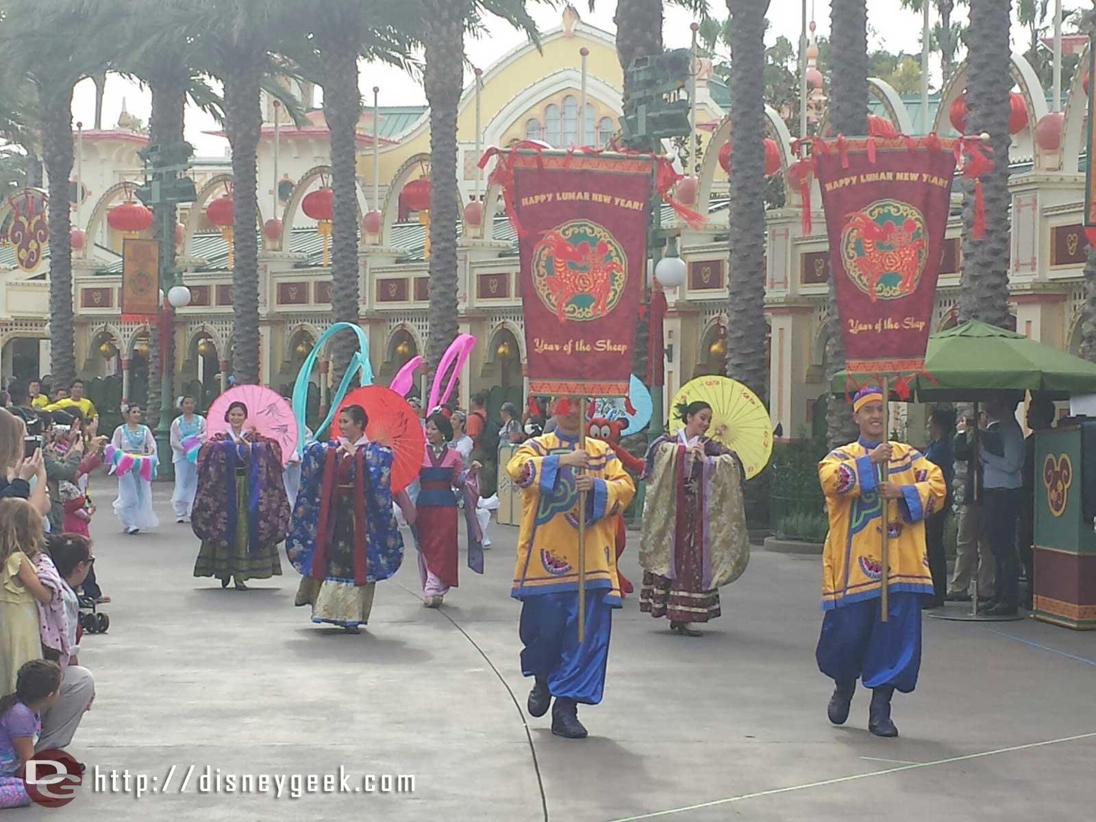 Mulan Procession arriving at the Lunar New Year celebration