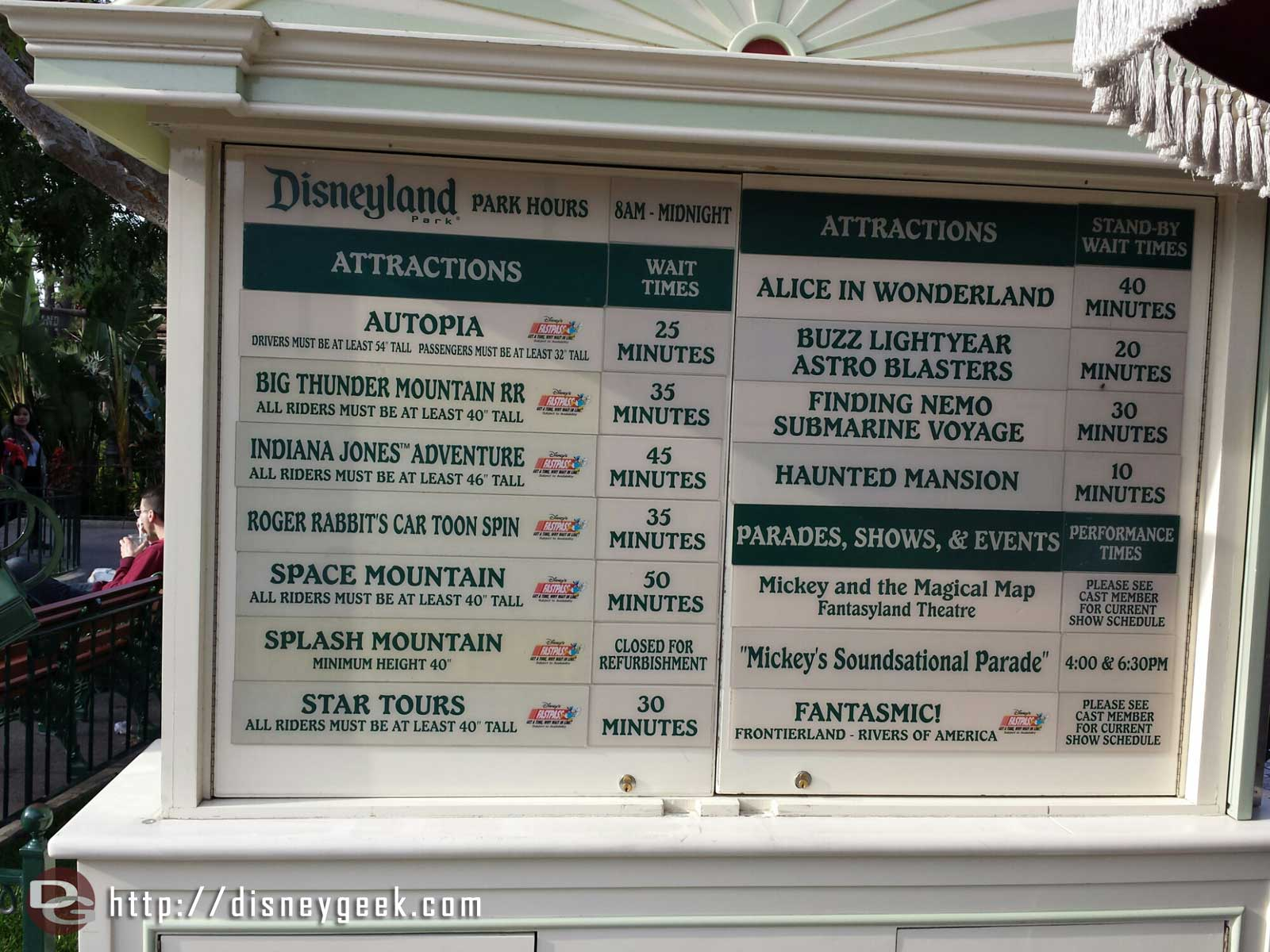 #Disneyland waits as of 3:26pm