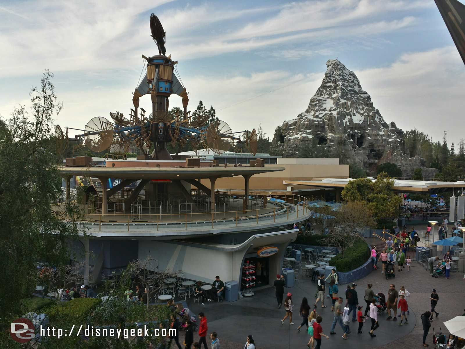 Tomorrowland from the 2nd story of Innoventions #Disneyland