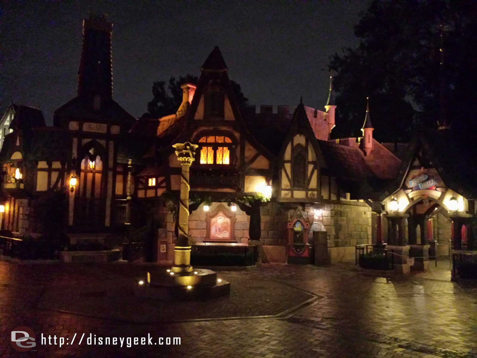 Passing through a quiet Fantasy Faire #Disneyland