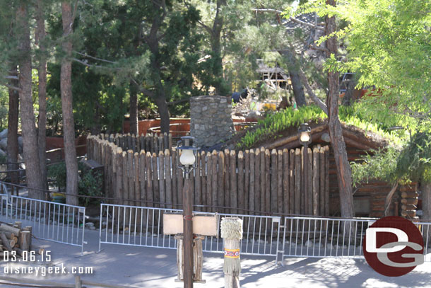 New fencing up around the back of the Briar Patch in Critter Country.