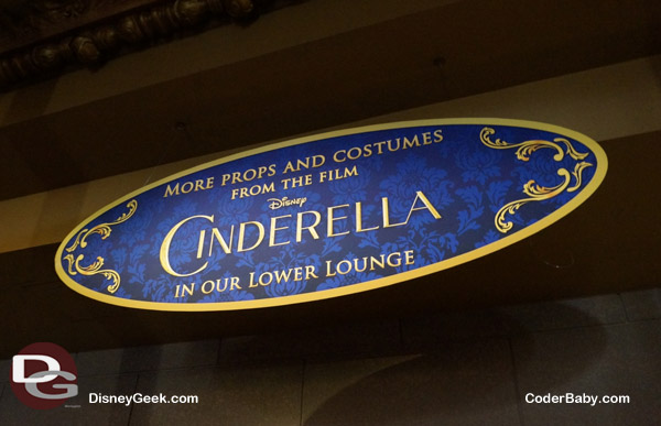After the movie, we want to see the props and costumes used in Cinderella!