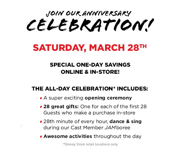 Disney Store 28th Anniversary Celebration