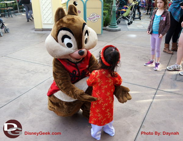 Chip hugging my daughter at the Lunar New Year Celebration