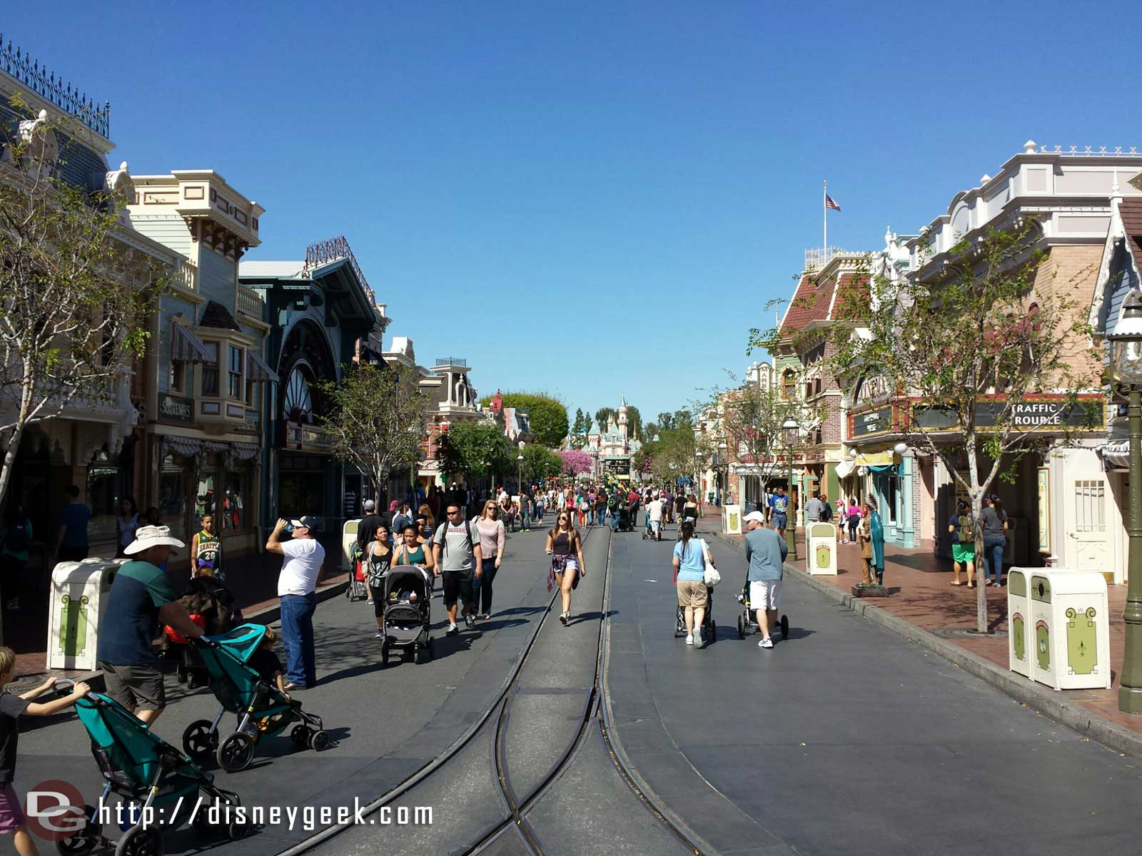 Main Street USA this picture perfect afternoon. #Disneyland